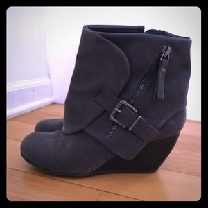 Blowfish wedge boots.  .